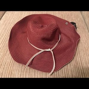 NWT Peter Grimm Hat Fedora Red Summery
